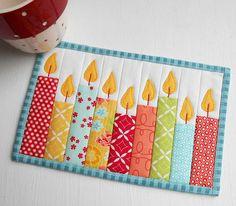 Celebration Candles (QAYG) Mug Rug | Inspired by Washi tape … | Flickr