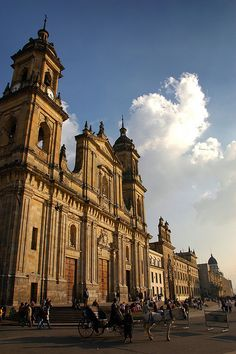 Bogota, the capitol city of Colombia. Colombia was the first constitutional government in South America.