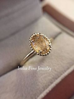 Practical Solid 10k White Gold Natural Smokey Quartz Topaz Engagement Wedding Fine Ring Meticulous Dyeing Processes Fine Jewelry Jewelry & Watches