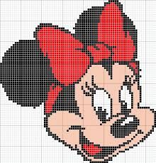 Minnie Mouse x-stitch [ Minnie Disney hama perler beads pattern - substitute chart for cross stitch, link is broken to site. but you can get the pattern by printing . ] # # # # # # # # # # Minnie Mouse x-stitch [ Cross Stitch For Kids, Cross Stitch Baby, Cross Stitch Charts, Cross Stitch Patterns, Loom Patterns, Beading Patterns, Embroidery Patterns, Crochet Patterns, Beaded Cross Stitch