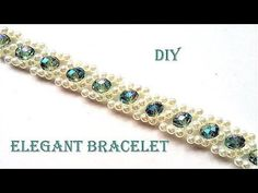 How to make pearls and crystal bracelet. Easy pattern tutorial for a beautiful Christmas gift - YouTube