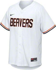 Oregon State Beavers White Nike Baseball Jersey