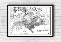 Map Of Singapore - White
