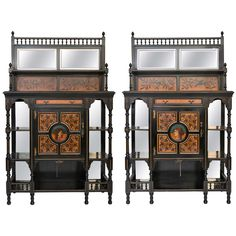 Pair of Aesthetic Movement Side Cabinets at 1stdibs