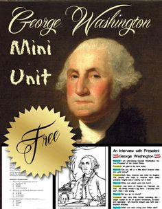 President's Day is the perfect time of year to study the first president of the United States, George Washington. This FREE George Washington mini unit is m