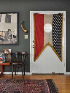 Flags as Wall Art from Our House Tours