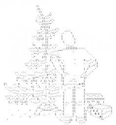 Merry Christmas ASCII Text Art   God jul, Jul och Konst