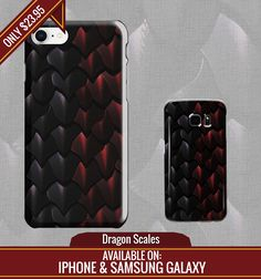 #Black and #red #dragon #scales phone case. Available for most models of #iPhone and #Samsung galaxy cases.  *Fire breath not included  Samsung version can be found here: https://www.redbubble.com/people/kritwanblue/works/28411502-dragon-scales?asc=u&p=samsung-galaxy-case&rel=carousel