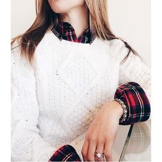 tartan + cable knit