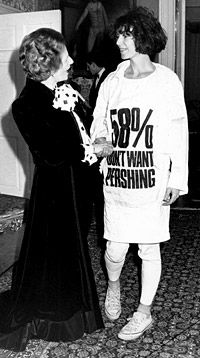 Katharine Hamnett & Margaret Thatcher