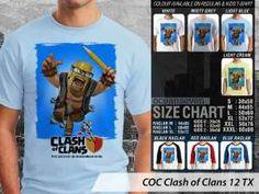 Kaos Clash of Clans Desain Terbaru, Kaos Clash of Clans Desain Unik, Kaos Clash of Clans Anak-anak, Kaos Anak-anak Clash of Clans
