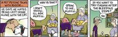 Pet Psychic, Cat Comics, Comic Strips, Crane, Pickles, Humor, Pets, Cat Cartoons, Wolves