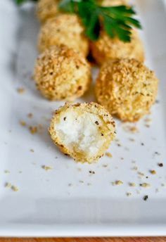 Crispy Parmesan Potato Puffs I howsweeteats.com