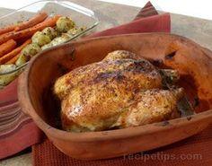 Clay Pot Baked Chicken Recipe from RecipeTips.com!