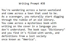 Writing Prompt #38. You're gonna need that dictionary to realize you used the wrong baron/barren lol