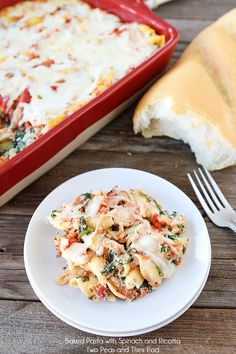 Baked Pasta w/ Spinach and Ricotta