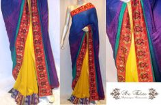 With all the colors of the season, this saree is surely and eye turner......
