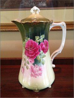 German Tettau Hand Painted Floral Porcelain.