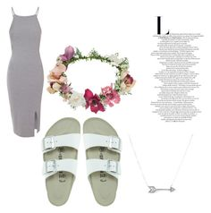 """""""Sunday's"""" by daijah-escobar on Polyvore featuring Glamorous, Birkenstock, Topshop and Adina Reyter"""