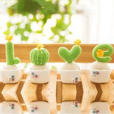 This Love Cactus Crochet Pattern is so cute! #crochetpattern #lcactuspattern #cactuscrochetpattern #crochet #lovecactus Affiliate Link