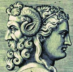 The month of January is named for the Roman god, Janus – a figure depicted by the ancient Romans as having two faces: one looking . God Tattoos, Body Art Tattoos, Tatoos, Sweet Tattoos, Roman Gods, Roman Mythology, Greek Mythology, Classical Mythology, Janus