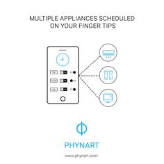 Phynart resolves all your worries of managing multiple appliances at the same time. With phynart app, schedule your appliance's on/off time on your finger tips. #smarthome #homeautomation #phynart