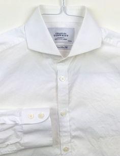 CHARLES TYRWHITT Men's Extra Slim Fit Long Sleeve Dress Shirt Size 15.5 - 33 #CharlesTyrwhitt