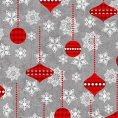 Holiday Frost from Henry Glass  Gray White Red por meanderingthread
