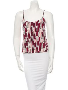 Prada Lipstick print camisole top in Pink and Red, S/S 2000