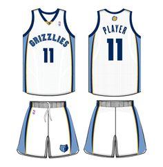 84da3d65a Memphis Grizzlies Home Uniform 2011- Present Memphis Grizzlies