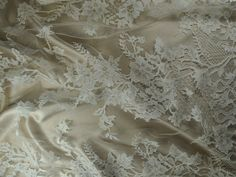 Royal Wedding Lace -15 days before the Royal Wedding of Prince William to Kate Middleton, now the Duke and Duchess of Cambridge, Solstiss delivered to Alexander McQueen's studios this very lace in soie for use on the Royal Wedding Dress,