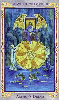 Wheel of Fortune (Arthur's Dream) - Legend: Arthurian Tarot by Anna-Marie Ferguson