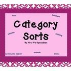 This is a great set for students strengthening language skills. These sorting mats provide practice with vocabulary, sorting and intraverbals.   In...