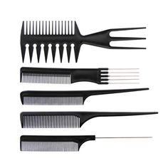 10pcs Professional Hair Combs Kits Salon Barber Comb Brushes Anti-static Hairbrush Hair Care Styling Tools Set Kit For Hair Salo #Affiliate