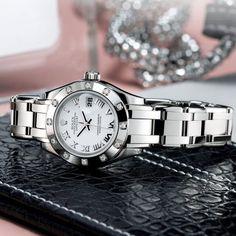 Fancy - Ladies Diamond Rolex Datejust Pearlmaster Watch