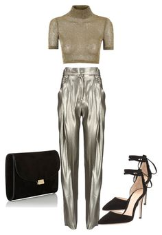 """Untitled #513"" by jazz-mae on Polyvore featuring Anthony Vaccarello, Glamorous, Gianvito Rossi and Mansur Gavriel"