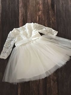 Couture Lace Baby Girl Baptism Dress or Flower Girl Dress / Baptism Dress / Bow Dress / Christening Dress /. Girls Baptism Dress, Baby Girl Birthday Dress, Baby Girl Party Dresses, Baby Girl Baptism, Little Girl Dresses, Baby Dress, Girls Dresses, Flower Girl Dresses, Cute Toddler Girl Clothes