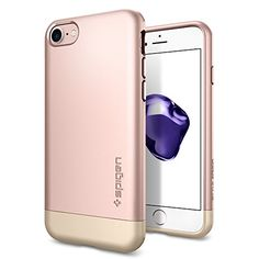 iPhone 7 Case, Spigen [Style Armor] Protective [Rose Gold] SOFT-Interior Protection Metallic Finished Base with Dual Layer Protection Slim Trendy Hard Case for Apple iPhone 7 (2016) – (042CS20517)