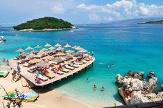 This is just one of the amazing beaches of Ksamil Beach Fun, Beautiful Beaches, Coast, The Incredibles, Amazing, Water, Outdoor, Gripe Water, Outdoors