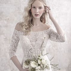 Vintage Wedding madison james fall 2018 bridal three quarter sleeves off the shoulder full embellishment elegant vintage fit and flare sheath wedding dress lace back sweep train zv -- Madison James Fall 2018 Wedding Dresses Wedding Dress Pictures, Fall Wedding Dresses, Elegant Wedding Dress, Designer Wedding Dresses, Bridal Dresses, Wedding Gowns, Bridesmaid Dresses, Wedding Ceremony, Lace Wedding