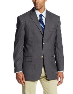 Men's Solid Two-Button Center Vent Sport Coat