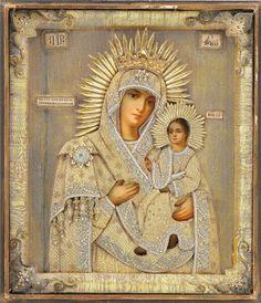 LÁMINAS VINTAGE,ANTIGUAS,RETRO Y POR EL ESTILO.... Religious Icons, Religious Art, Verge, Russian Icons, Show Beauty, Mary And Jesus, Byzantine Art, Hail Mary, Madonna And Child
