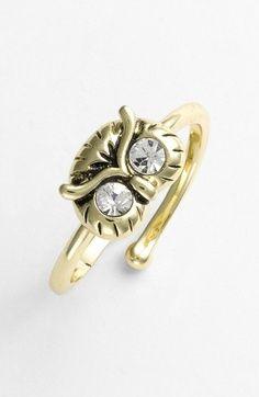 Pretty Owl ring.