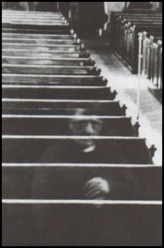 The reverend ghost. taken in 1956 inside of St. Mary's church. Reportedly only a cleaning lady was present at the time the picture was taken.