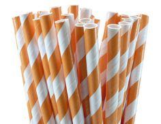 orange striped straws