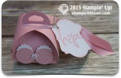 "VIDEO: Booby Box of Hope – Stamp Out Breast Cancer |Stampin Up Curvy Box.  ——— STAMPIN UP S U P P L I E S ———  • Watercolor Words Photopolymer Stamp Set #138702 • Subtles Designer Series Paper Stack #138702 • Whisper White 8-1/2X11 Card Stock #100730 • Blushing Bride 8-1/2"" X 11"" Cardstock #131198 • Blushing Bride Classic Stampin' Pad #131172 • Stampin Write Markers - Subtles Collection #131263 • Subtles Candy Dots #130933 • Whisper White 5/8"" Satin Ribbon #134549"
