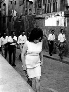 Joan Colom, in the red-light district of Barcelona's famous Barrio Chino Monochrome Photography, Vintage Photography, Black And White Photography, Street Photography, Alberto Garcia, Fotografia Social, Barcelona City, Red Light District, Extraordinary People