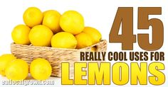 Most people are familiar with the traditional uses for lemons to soothe sore throats and add some citrus flavor to our foods. However the diversityof applications for lemons farexceeds general knowledge and once you read the following list, you'll likely want to stock at least a few lemons in your kitchen 24-7.