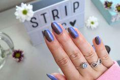 Striplac Metallic Nail Naildesign Nail Tutorials, Nail Art, Nails, Metallic, Beauty, Up, Blue Grey, Nail Polishes, Hair Makeup