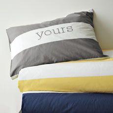 Bedding, Bedding Collections & Modern Bedding | west elm, monogram sham for each kid